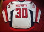 Capitals Away White Neuvirth 2007 Back