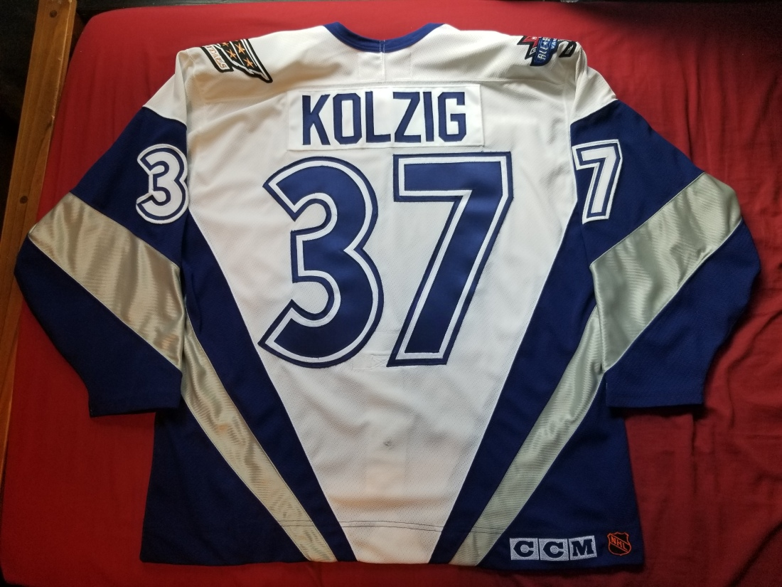 Kolzig World AS White 1998 Back