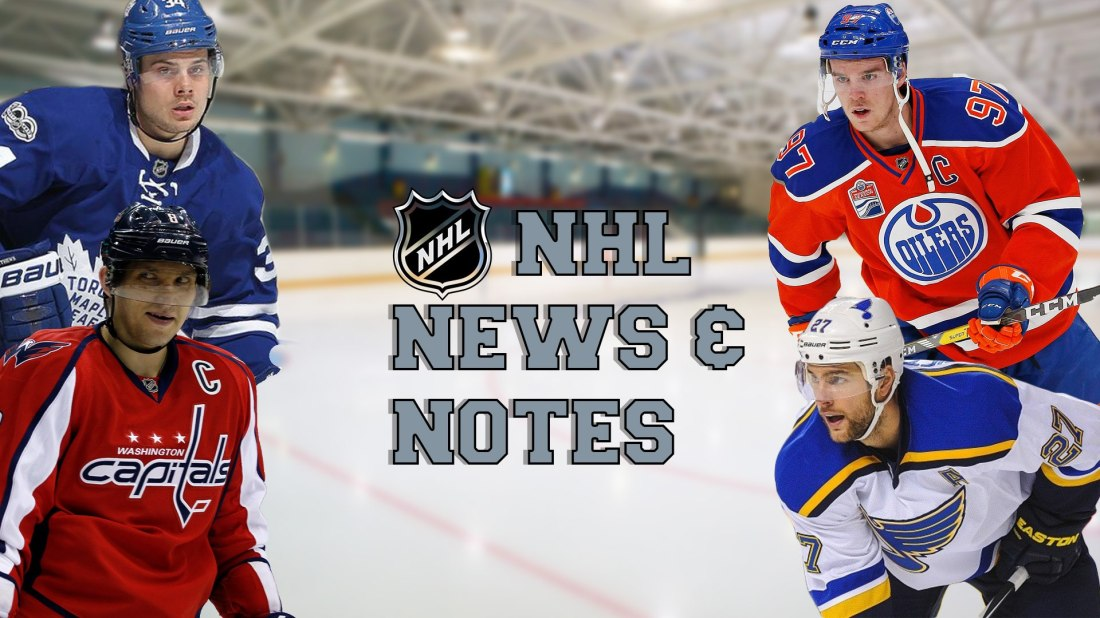 NHL News and Notes