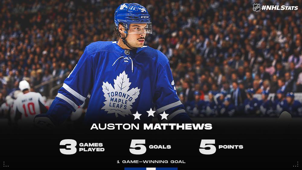 3 - Auston Matthews